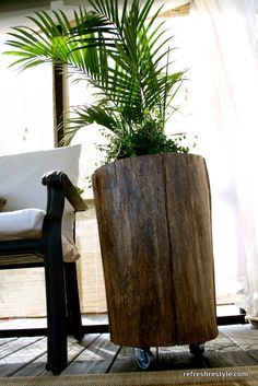 Stump Side Table tree stump side table for the patio.insert plants, small trees, and/or flowers.tree stump side table for the patio.insert plants, small trees, and/or flowers.