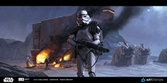 ILM Art Department Challenge - The Moment - Sandcrawler Ambush, Travis Wright on…