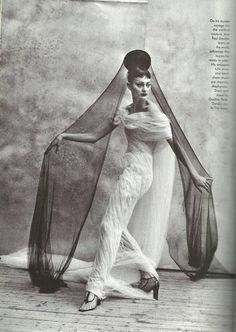Vogue 1997  /Photog Peter Lindbergh  /Editor Grace Coddington  /Model Shalom Harlow