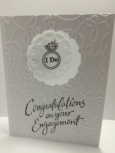 Congratulations on your Engagement!! by StephsSewingBasket on Etsy