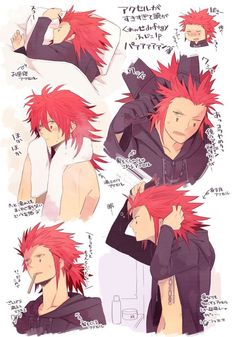 Axel and his awesome hair heh<<<< Stahhhppppp Axel stahp it! > //// <