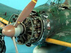 Mitsubishi A6M Zero Aircraft Engine, Ww2 Aircraft, Airfix Models, Airplane Art, Modeling Techniques, Model Hobbies, Aircraft Photos, Model Airplanes, Paint Schemes