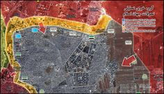 Red arrows are d main attack axis in eastern neighborhood of #Aleppo Liberation of Ba`edin square & advances in Tel Zuhur not confirmed yet