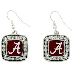 $5.50 Crystal Accented University of Alabama Earrings