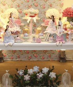 Decoração  nossas bonecas decorando o chá de bebê da Sarah e marcando presença na mídia de Vitória ES