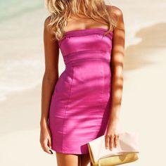 Price Droph&M Hot Pink Strapless Dress