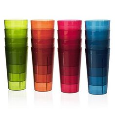 Café Break-Resistant Plastic 20oz Restaurant-Quality Beverage Tumblers | Set of 16 in 4 Assorted Colors US Acrylic, LLC http://smile.amazon.com/dp/B010E0N7ZU/ref=cm_sw_r_pi_dp_v9yPwb18KXXT1