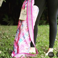 The Coolest Pink Yoga Bag by FLORYPONDIA on Etsy