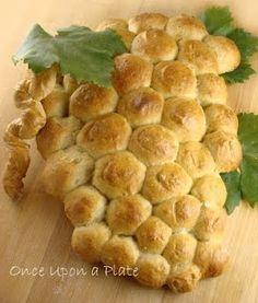 Grape vine bread for 1st communion party