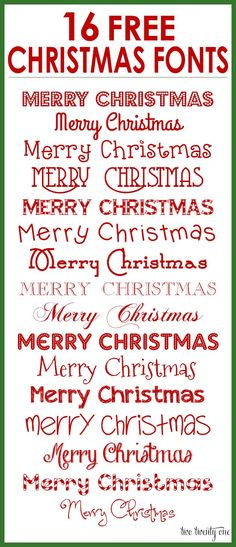FREE downloadable Christmas Fonts!