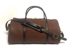 """Duffel Bag Brown Leather Amish Made Full Grain Leather  20"""""""