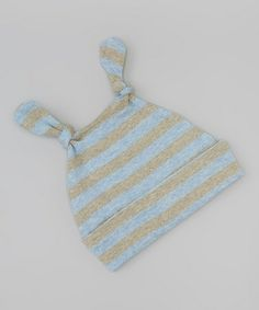 Take a look at this Blue Stripe Organic Knot Beanie by Sckoon Organics on #zulily today!