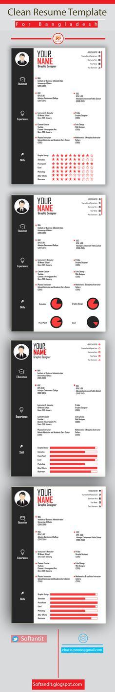 Clean Resume Template For Bangladeshi Job Marketplace. This Is Free Template  Base On Bangladeshi Applicant