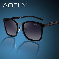 AOFLY Famous Brand Polarized Sunglasses Men Vintage Square Driving Sunglasses For Men / Women With Original Box