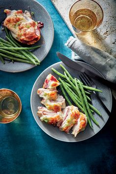 Cheesy Chicken Cutlets with Ham and Jam  | MyRecipes