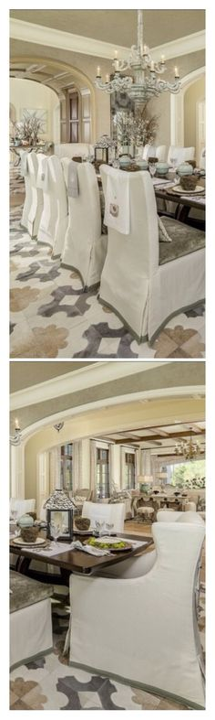 Luxury homes cozy dinning Luxury Home Decor, Luxury Homes, Luxurious Homes, Fantasy Rooms, Grey Floor Tiles, Design Your Own Home, Dining Room Design, Dining Rooms, Dining Chairs