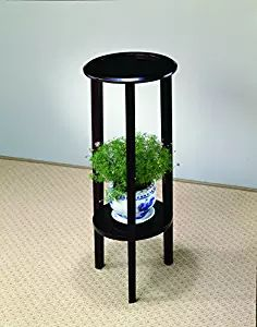 Coaster 900936 Plant Stand With Round Top, Cappuccino