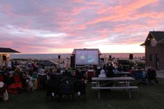 Family Movie Night every Wednesday in July and August! Who wouldn't enjoy a movie and a view?