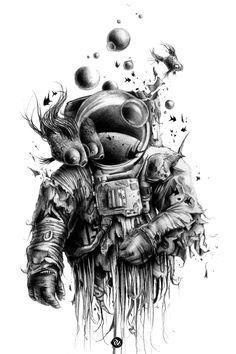 Astronauta e natureza