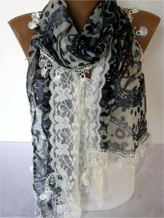 NEWElegant scarf Fashion scarf gift Ideas For Her by MebaDesign