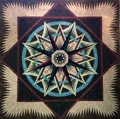Mariner's Compass, Quiltworx.com, Made by CI Patsy Carpenter.