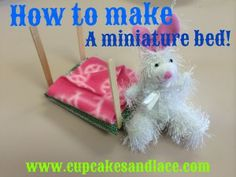 Fun Girl Scout Troop Craft-Make A Miniature Bed For Mini Stuffed Animal-Tutorial and Photos Included Girl Scout Badges, Girl Scout Troop, Girl Scouts, Diy And Crafts Sewing, Crafts To Make, Crafts For Kids, Toddler Videos, Girl Scout Crafts, Cute Stuffed Animals