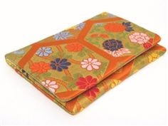 Business card holder made of Japanese Kimono fabric. Each one is one of a kind.