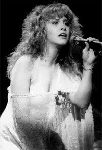 """Stevie Nicks and Fleetwood Mac truly my inspiration growing up.  I love her raspy voice and the story telling you just can't shake... just """"Stand Back"""" and listen."""