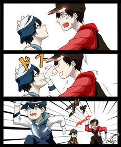 62 Ideas funny cartoons disney friends for 2019 Boboiboy Anime, Anime Kiss, Dark Anime, Disney Cartoons, Funny Cartoons, Funny Comics, Anime Galaxy, Boboiboy Galaxy, Funny Christmas Jokes