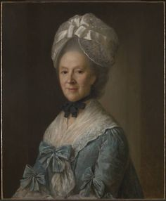 """Portrait of a Lady in a Blue Dress, possibly Mrs. Mary Barnardiston"", Nathanial Hone, ca. 1775; TC T07114"