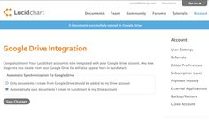 Google Drive integration leaked by Lucidchart #screen #cloud