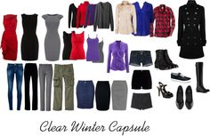 """""""Clear Winter Wardrobe Ideas"""" by katestevens ❤ liked on Polyvore"""