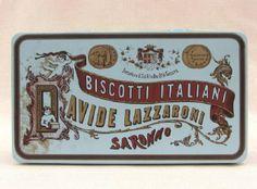 Scatola di latta biscotti Lazzaroni