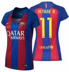 NIKE NEYMAR JR. FC BARCELONA WOMEN S HOME JERSEY 2016 17 QATAR. 6ed1bf7da20c5