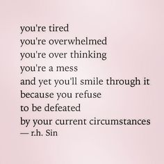When you feel like you want to give up, refuse to be defeated!!! You're feeling weak, you're feeling defeated, you want to quit, but I PROMISE YOU- there's still strength in you to push through! You deserve to push through. You deserve to fight for yourself! HAPPY THURSDAY!!!
