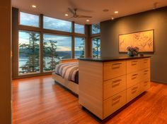 Shelter Bay Residence, Master Bedroom, Designs Northwest Architects