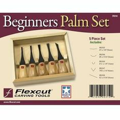 Flexcut Beginners Palm Tool Wood Carving Set FR310 NEW USA Made www.sunsetsalesdirect.com