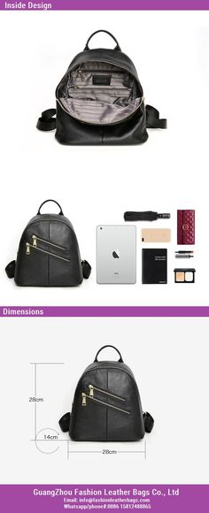 f07ca2f33f Ladies Luxury Genuine Leather Bag Backpack Women Handbag 2018 New Design  FS537 Guangzhou