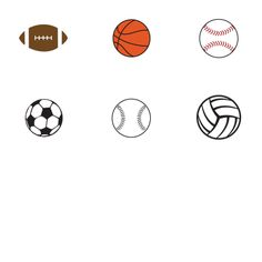 "1"" Sports Balls Bottle-Cap Images - Free"