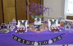 weddingshowerideas | This was for my BFF's bridal shower. Her colors are purple and orange ...