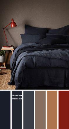 Brown Bedroom Colors, Dark Brown Bedrooms, Dark Gray Bedroom, Bedroom Red, Bedroom Decor, Dark Color Palette, Bedroom Colour Palette, Bedroom Color Schemes, Color Palettes