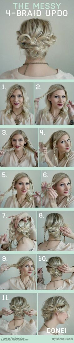 4-braid updo
