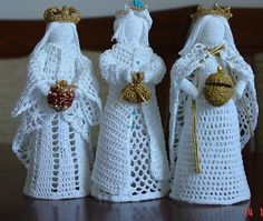 Best 9 Crochet white angel figurine religious gift Christmas ornament tree decor godmothers present Christening guardian lace angel – SkillOfKing. Knit Christmas Ornaments, Christmas Crochet Patterns, Crochet Ornaments, Holiday Crochet, Crochet Snowflakes, Christmas Knitting, Christmas Angels, Christmas Christmas, Christmas Crafts