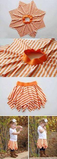 15 min easy skirt no side seams.