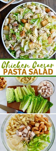 Prepare a dinner in-a-bowl with an invigorating formula for Chicken Caesar Pasta Salad featuring DIY dressing. Chicken Caesar serving of m… Chicken Caesar Pasta Salad Chicken Caesar Pasta Salad Chicken Caesar Pasta Salad, Chicken Salad Recipes, Pasta Recipes, Dinner Recipes, Shrimp Recipes, Salmon Recipes, Pasta Salad With Chicken, Potato Recipes, Fish Recipes