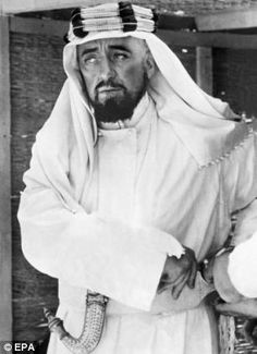 "Alec Guinness as Prince Faisal in ""Lawrence of Arabia"" (1962). Director: David Lean."
