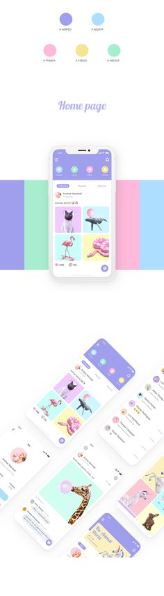 Unicorn社交app概念设计|UI|APP界面|川普咬狗猫 - 原创作品 - 站酷 (ZCOOL)