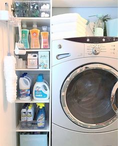 "Verified ""Life isn't always neat, but it can always be organized!"" We love this quote by especially when it comes to laundry room organization. Stay tuned for her new video! Meme Design, The Home Edit, Garage, Laundry Room Organization, First Apartment, Home Hacks, Decluttering, Homemaking, Diy Home Decor"