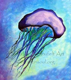 Art Prints two jellies by ArtInSoulorg on Etsy