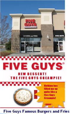 Five Guys Burgers and Fries new dessert.